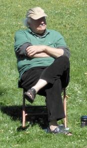 Patrick Jamieson (poet, novelist, historian, editor) listening