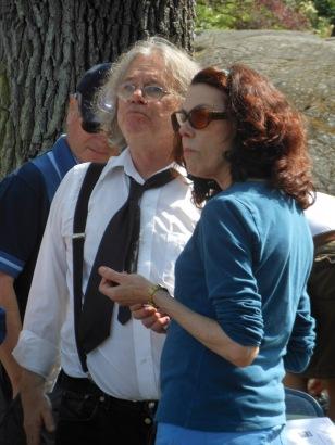 Richard Olafson, publisher (Ekstasis Editions) talking to Susan McCaslin, poet
