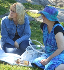 Linda Bradley and Lynn Goodacre